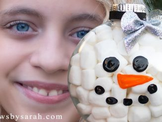 How to Make a Clear Snowman Ornament
