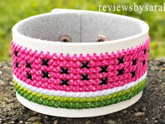 Cross Stitch Watermelon Bracelet