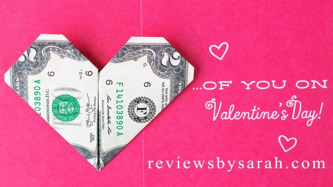 Decorative Money Origami Heart: Video Tutorial and Picture ... | 381x678