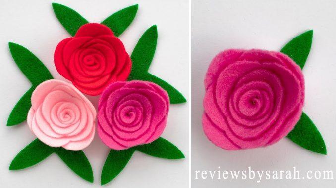 Easy Felt Rose Flower