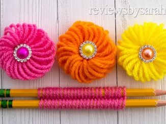 Easy Finger Embroidery Flower