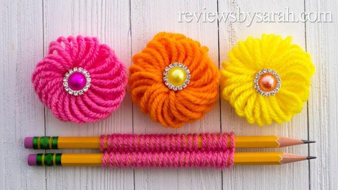 Easy Finger Embroidery Flower