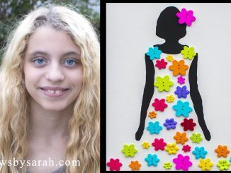 Flower Girl Button Art on Canvas