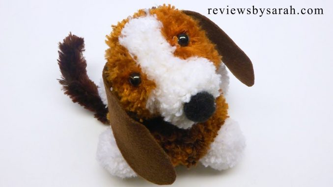 Puppy Dog Made from Pompoms