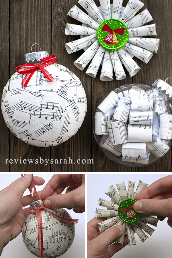 Sheet Music Ornaments for the Christmas Tree