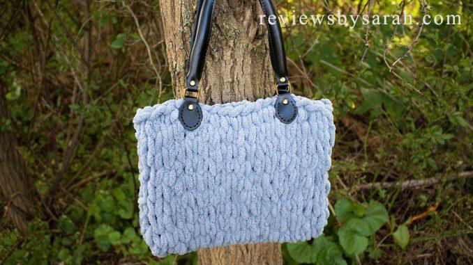 Easy Loop Yarn Finger Knit Bag
