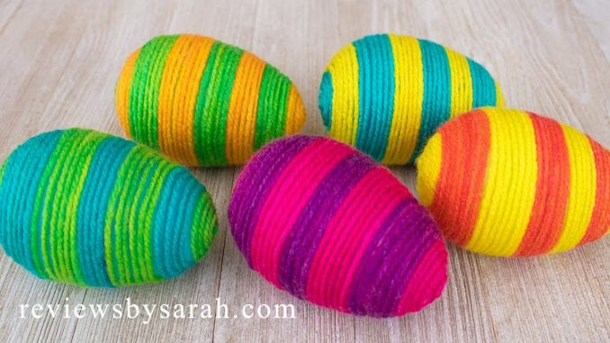 Yarn and Thread Wrapped Eggs